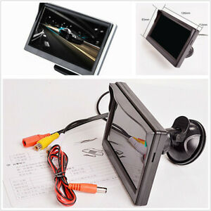 5in TFT LCD HD Car Monitor 2 Way Video Input Fit For Reverse Rear View Camera
