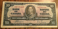 1937 CANADA 10 DOLLAR BANK NOTE - H/T - Coyne / Towers
