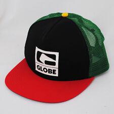 Globe gravé logo rasta maille réglable camionneur VERT NOIR ROUGE