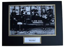 Pete Best SIGNED autograph 16x12 photo display The Beatles Music AFTAL COA