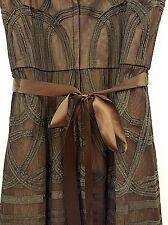 Formal BCBG MAXAZARIA Chocolate Brown Tea Length Spagetti Strap Dress