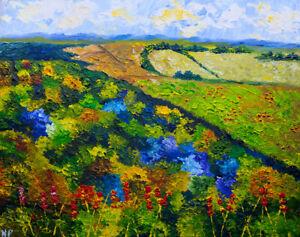 Loess Hills Forest Natasha Petrosova Original Painting Impressionism 5578