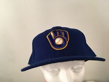 Milwaukee Brewers Hat Blue Yellow MLB Fitted 8 59fifty New Era On Field Cap