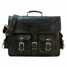 Real Hipster Vintage Leather Large Messenger Laptop Satchel Briefcase Men's Bag
