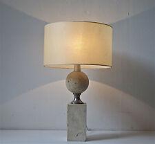 lampe luminaire pierre barbe travertin 1960 1970 light mid century  design
