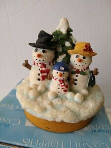 Our America Yankee Candle Snowman Family NE469 Christmas Candle Topper NICE