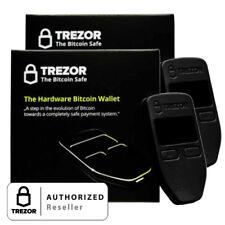 2 pk Black Satoshi labs Trezor for Bitcoin Wallet protective digital hardware