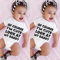 Newborn Infant Baby Boys Girls Bodysuit Romper Jumpsuit Sunsuit Outfit Clothes c