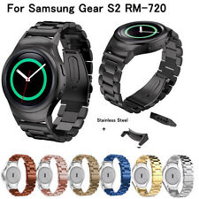Stainless Steel Watch Band Strap w/Metal Connectors/adapters for Samsung Gear S2