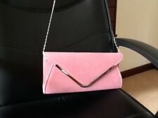 Faux Suede Wedding /Ladies Clutch Bag . With optional chain shoulder strap.