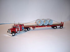 DCP 1/64 LEFEBVRE 379 PETERBILT WITH 36'' SLEEPER & FLATBED WITH 72'' PIPE LOAD