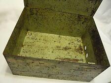 """Scatola in acciaio decorazione shabby 10 1/4"""" x 10 3/4"""" x 6"""" da Uomo'S Leicester Inghilterra 1920"""