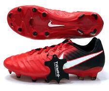 Nike Tiempo Legacy 3 Fg Soccer Cleats Red Black 897748-616 Men's Sz 6.5 (Ns9)