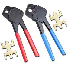 """1/2"""" & 3/4"""" Pex Crimpers Set Plumbing Crimping Tools Copper Ring Gonogo Gauge"""