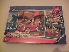 New Ravensburger Disney  Mickey Mouse Clubhouse 3 x 49 pc Jigsaw Puzzles