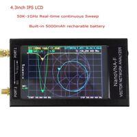 NanoVNA-F VNA HF VHF UHF Vector Network Antenna Analyzer + 4.3 inch LCD + Case