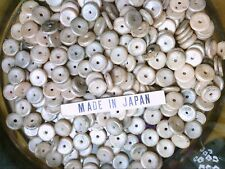 Vtg 300 RONDELLE SEQUINS JAPAN DISK BEADS EXOTIC OLD 8mm #082413a