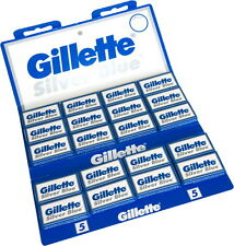100 Gillette Silver Blue Rasierklingen Original & NEU