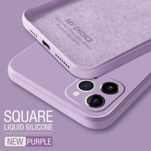 Square Phone Case For iPhone 12 mini 12 11 Pro Max XS 8 7 Liquid Silicone Cover