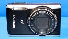 Olympus µ 9010 14.0MP Digital Camera - Midnight black & Silver - Faulty - 1845