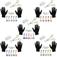 BodyJ4You 15PC PRO Piercing Kit 14G Double CZ Belly Navel Ring Body Piercing Set