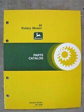 John Deere 46 Rotary mower Parts Catalog Manual 112 Lawn Tractor