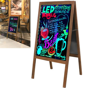 Flashing Illuminated Erasable Neon LED Pavement Sign A-Board Chalkboard w/Remote