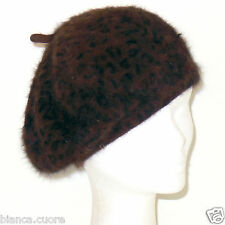 Cappello Basco marrone leopardato cuffia donna stile animalier art. G136 2d295e26a94b