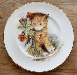 Fenton China Cat Poppy Decorative Plate
