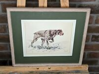 DAVID THOMPSON Original Limited Edition Print Short Haired German Pointer Signed