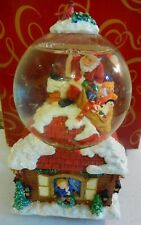 San Francisco Music Box Snow Globe Santa Claus is Coming to Town Light Up in Box