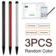 3Pcs 2 in 1 Universal Capacitive Touch Screen Stylus Pen for Samsung iPad iPhone