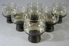 Retro/vintage 60s-70s bronze glasses/tumbler x 6-eames-era
