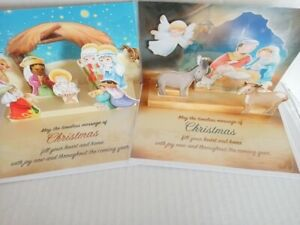 Christmas Card Pop Up 3D Xmas Cards Traditional Nativity Scene Pack 2