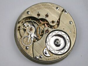 "Illinois 16 Size ""GETTY MODEL"" Pocket Watch Movement. 36Y"