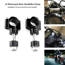2xCNC 28MM Motorcycle Riser HandleBar Heighten 36mm Handle Bar Mount Fixed Clamp