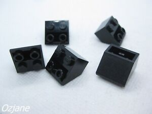 LEGO PART 3660 BLACK SLOPE INVERTED 45 2 X 2 FOR 5 PIECES