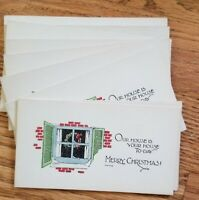 """Vintage Antique Early Unused Christmas Cards set of 13 small 5"""" x 2.75"""" NOS"""
