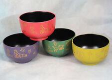 N.Y. Art Guild Manhattaner's Set of 4 Hard Plastic Bowls New York City Scenes