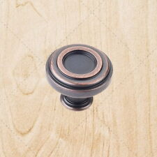 "Kitchen Cabinet Hardware Ring Knobs kt17 Brushed Oil Rubbed Bronze 1-3/8"" Pulls"