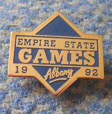 EMPIRE STATE GAMES OLYMPIC ALBANY USA 1992 PIN BADGE