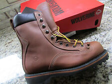"NEW WOLVERINE NORTHMAN 8"" GORE-TEX WORK BOOTS MENS 7 E WIDE MADE IN USA! 2709"