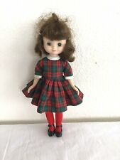 Vintage 1950's Tiny Betsy McCall 8 Inch Doll With Plaid Dress Shoes~As Is