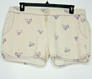 Retrospective Co. Womens Puppy Dog Sleep Shorts Elastic Waist Comfy Casual Sz XL