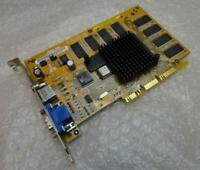 64MB HP ASUS V7100PRO 5185-4060 VGA Vid-Out AGP Vintage Graphics Video Card