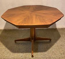 Vtg 70s Mid Century Modern MCM JB Van Sciver Co Walnut Octagonal Dining Table