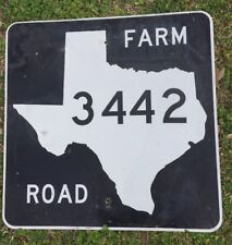 Old Authentic Retired TEXAS 3452 SIGN Highway Oil Gas (24X24) Lone Star