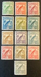 New Guinea. Birds Definitive Stamp Set. SG150/62. 1931. Lightly Mounted. #HV102