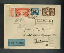 1932 Tonkin Lang Son Viet Nam Cochinchine Airmail cover to Marseille France