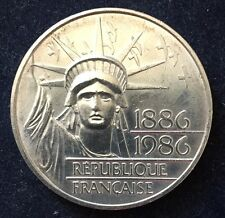 100 Francs 1986 Frankreich/ France Statue of Liberty 15 g Silber .900 KM#960